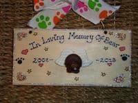 3d IN LOVING MEMORY PERSONALISED DOG CAT PET RABBIT GUINEA PIG MEMORIAL SIGN UNIQUE Handmade To Order